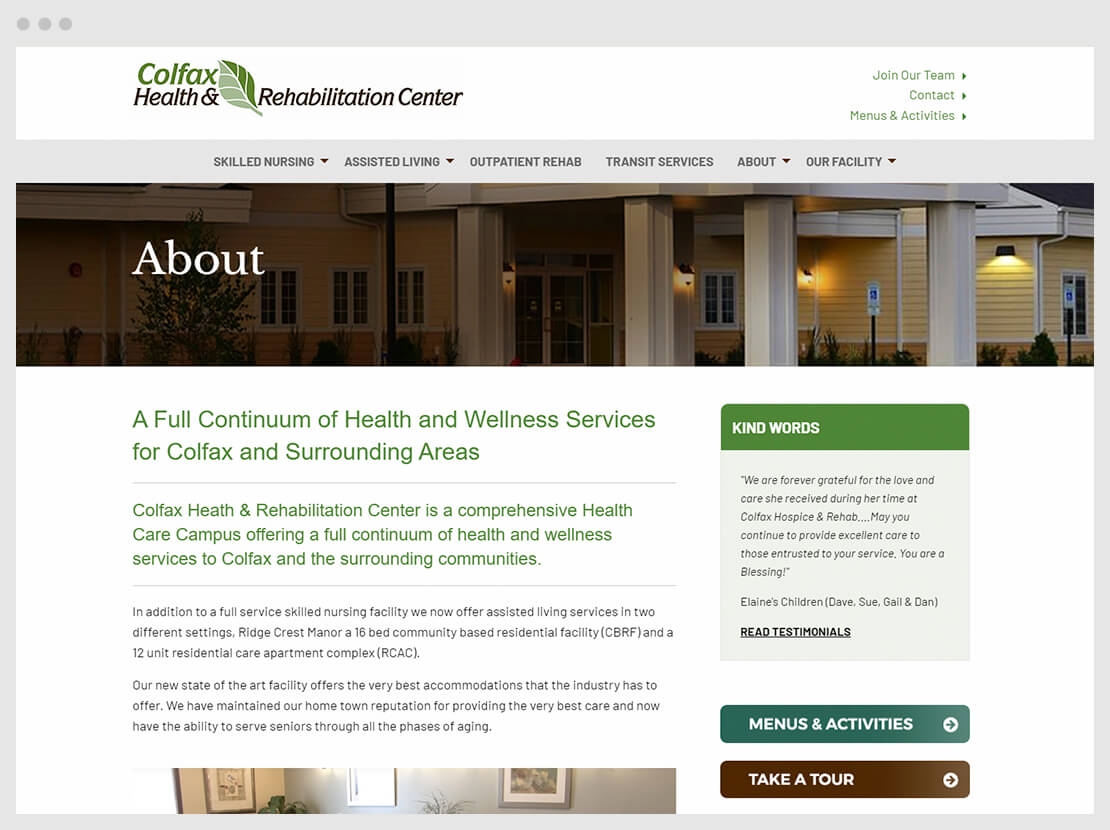 colfax website about