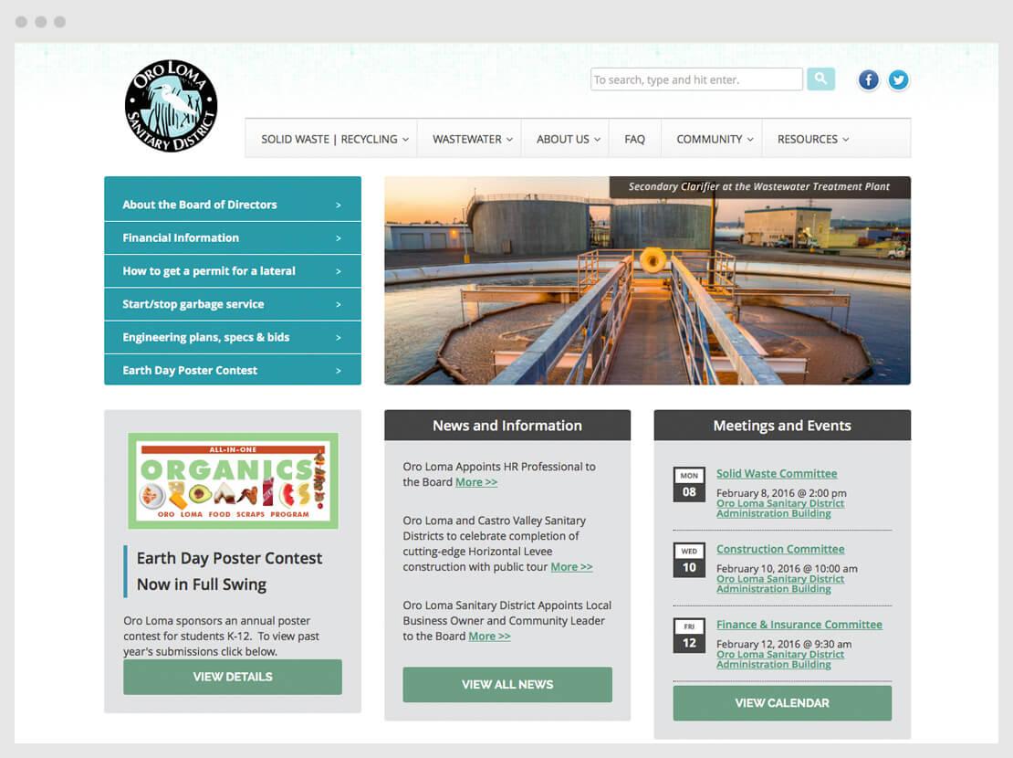 Water district website