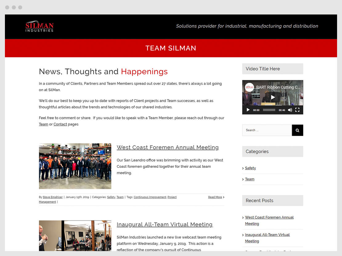 SIlMan team home page