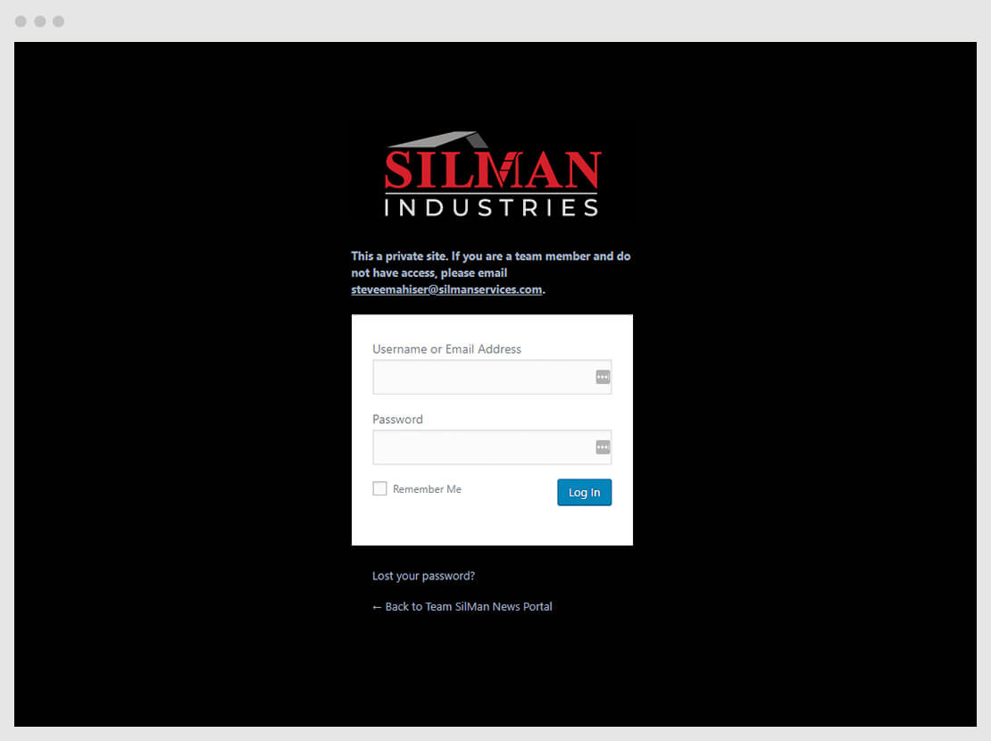 SIlMan team login